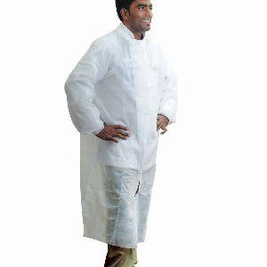 Nonwoven Hd Coat (for Visitors) - White
