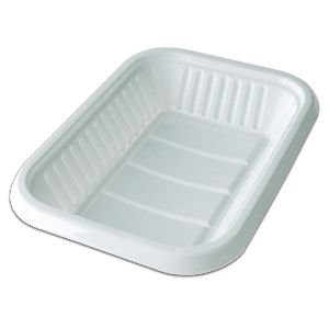 Oval White Plastic Tray