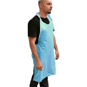P.e. Disposable Apron 28x46in - Blue