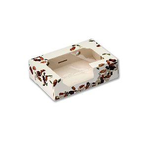 Rectangular Cardboard Cake Box W/ Window