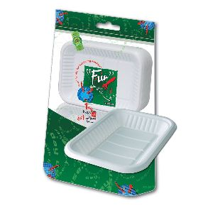 Rectangular Plastic Tray White