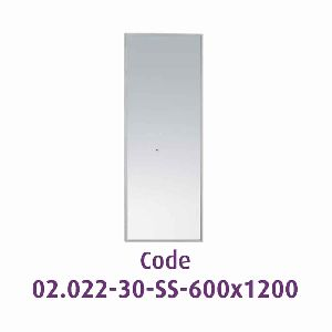 Mirror 6001200 Mm With Frame Inox Bright
