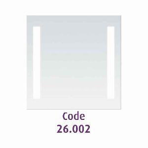 Mirror 7070 cm plain with 2x24W vertical lights