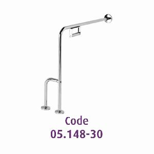 Wall and floor mounted grab bar D32mm 7070 cm with paper holder