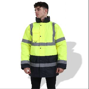 FP1653 Fluorescent Parka with Reflective Tape