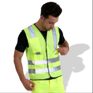 KF007 Fluorescent Safety Vest with Reflective Tape