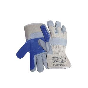 Rubberized Cuff Double Palm Canvas Gloves IJBD 2700-500