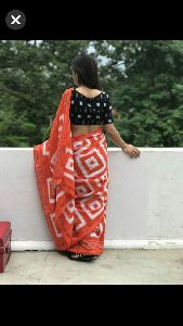 Mulmul Cotton Batik Saree