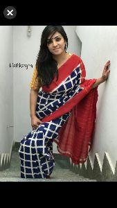 Mulmul Printed Saree