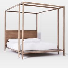 Wood Canopy Double Bed