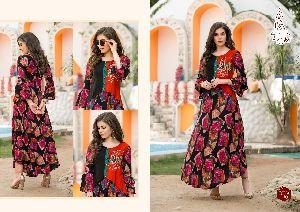 Riya Vol 1 Diksha Fashion Reyon Flair Kurtis