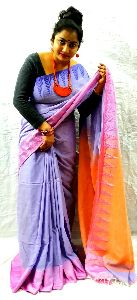 Daily Fashion Handloom Pure Khadi Jaquared Border Saree Is Highly Coveted All Over The World