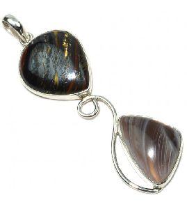 Admirable Pear Silver Gemstone Pendnat
