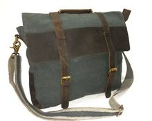 Canvas And Leather School Bag
