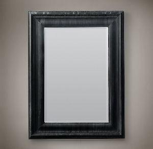 Dark Finish Wooden Mirror