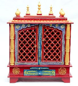 Wooden Temple For Home And Office