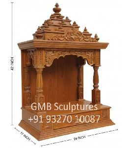 Small Teak Wood Temple For Home