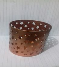 Star Etched Christmas Decoration Iron Tealight Holder