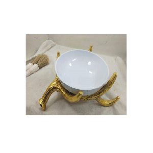 Gold And White Bowl