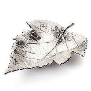 Silver Plated Leaf Bowl