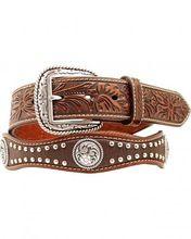 Studded Leather Women Belt