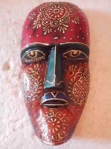 Wooden Hand Painted Mask