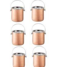 Inside Steel Outside Copper Champagne Ice Bucket