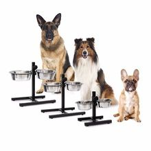 Stainless Steel Double Diner Food Water Dog Bowl