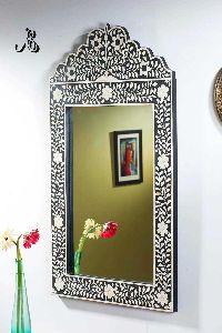 Bone Inlay Mirror Frame for Wall