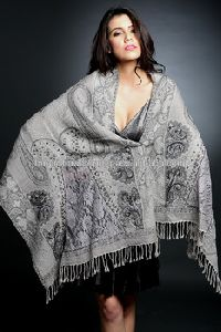 Evening Lace Embroidery Wool Shawls