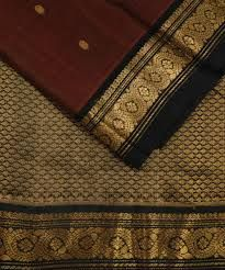 Embroidered Gadwal Sico Saree