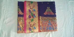 Embroidered Semi Paithani Silk Saree