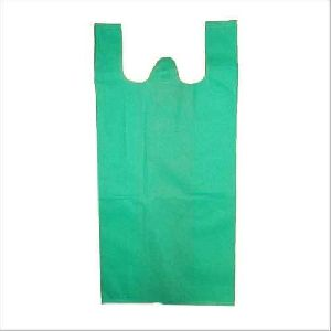 Green Colored Plastic Carry Bags