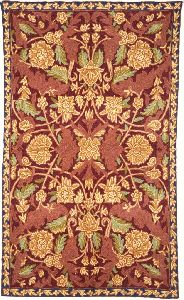Chainstitch Tapestry Woolen Rug, Multicolor Embroidery 2.5x4 Feet