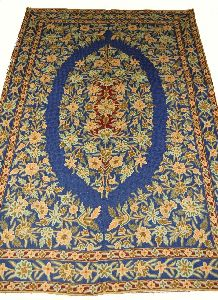 Chainstitch Tapestry Woolen Rug, Multicolor Embroidery 6x9 Feet