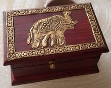 Brass Fitted Wooden Antique Gift And Decorative Box