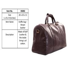 Genuine Leather Business Duffle Bag For Men