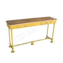 metal two Drawer Console Table