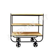 Vintage Industrial Metal Trolley
