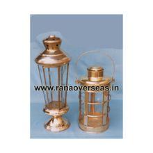 Antique Color Table Top Brass Metal Lanterns