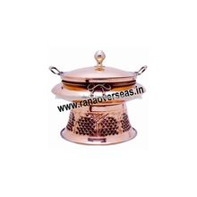Indian Copper Chafing Serving Dish