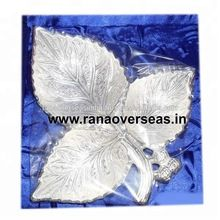 Leaf Shape Silver Plated Bowl