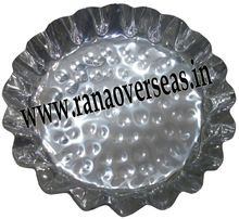 Stainless Steel Round Platters For Serving Salad
