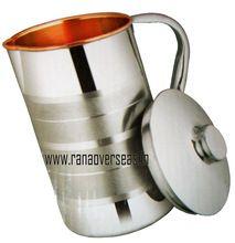 Steel Embossed Water Jug Copper Inside