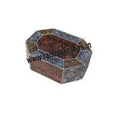 Wooden Antique Hexagon Jewellery Box