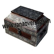 Wooden Antique Inlay Book Box