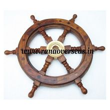Wooden Brass Fitting Ship Wheels