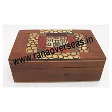 Wooden Plain Handcrafted Coloured Inlay Box