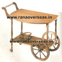 Wooden Serving Carts For Food, Tea, Snacks, Carry From Kitchen To Rooms
