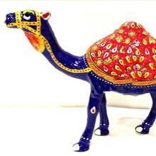 Metal Arab Camel Statue